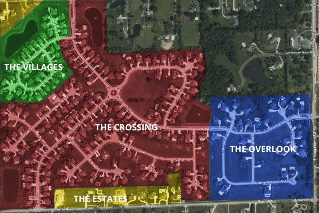 Kensington Grove Sections map